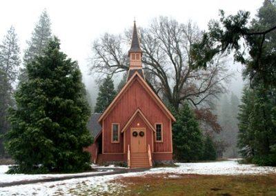 Yosemite Chapel in December