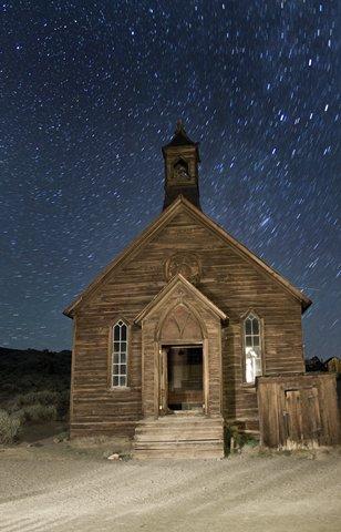 Methodist Church at Night